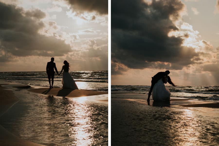 C & R - Mały Dworek Olsztyn - Sesja ślubna nad morzem 112