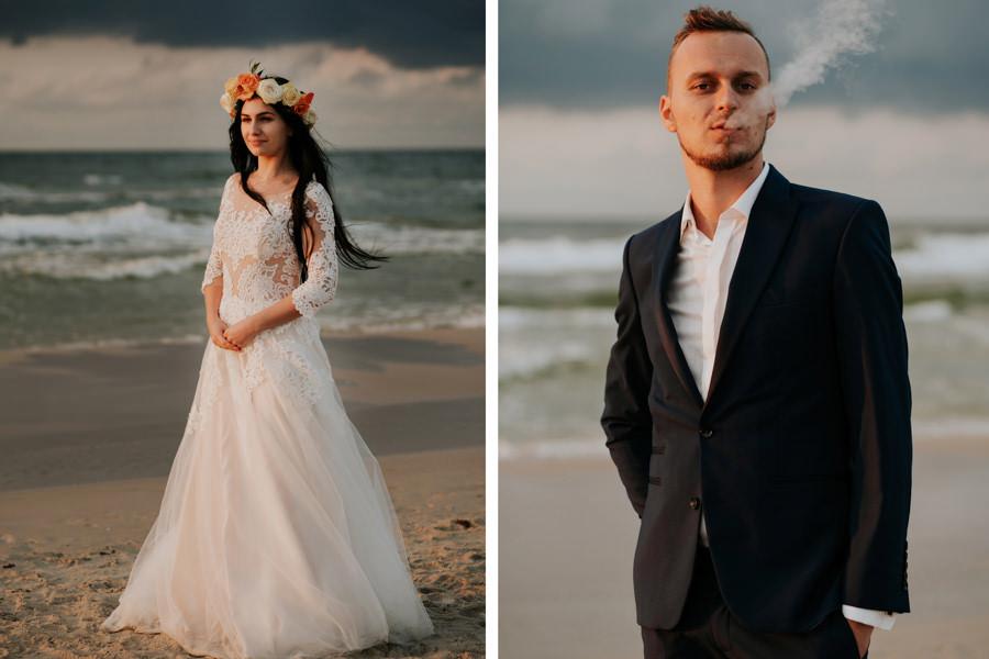 C & R - Mały Dworek Olsztyn - Sesja ślubna nad morzem 115